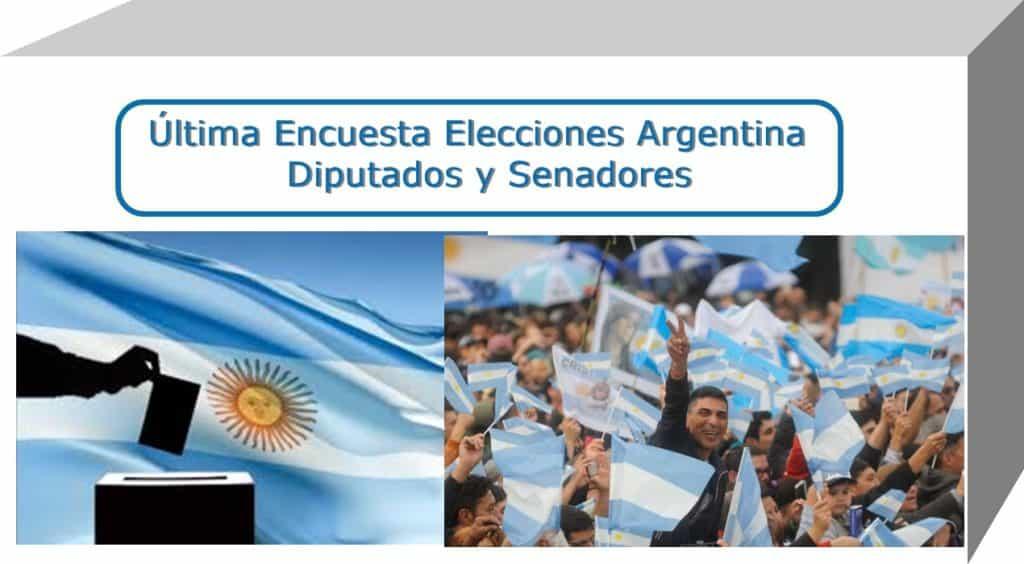Última Encuesta Elecciones Argentina - Diputados y Senadores