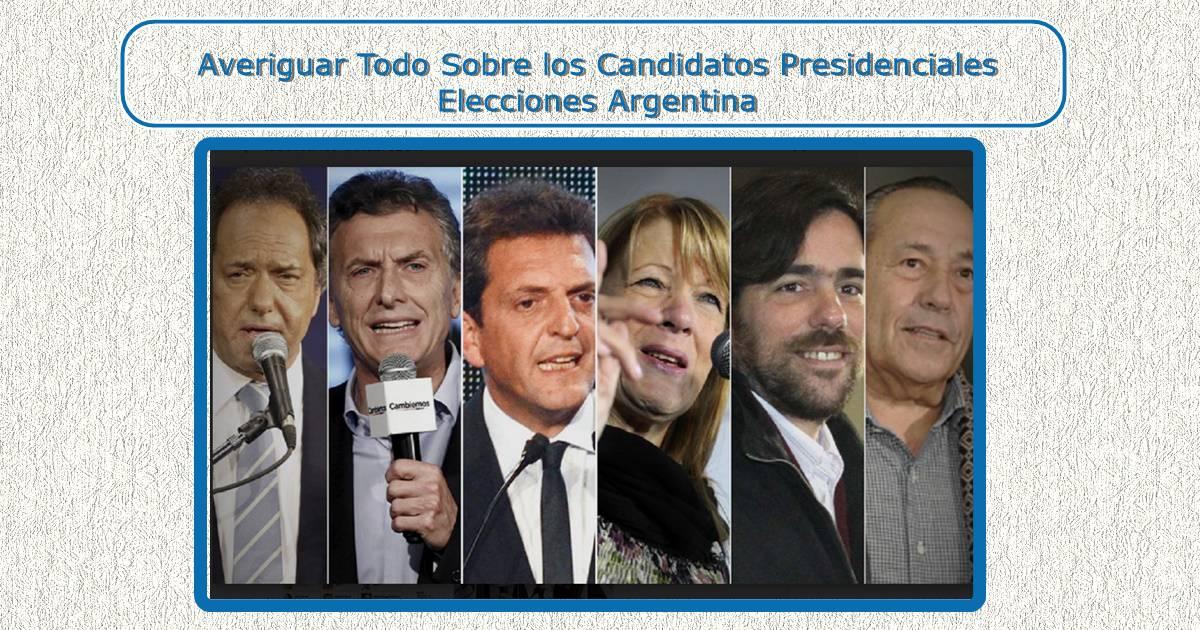 candidatos Presidenciales Elecciones Argentina