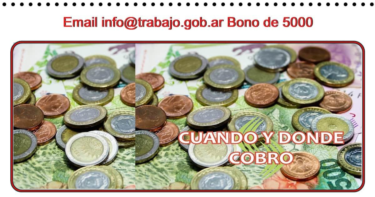 info @trabajo gob ar,información sobre el bono de 5000