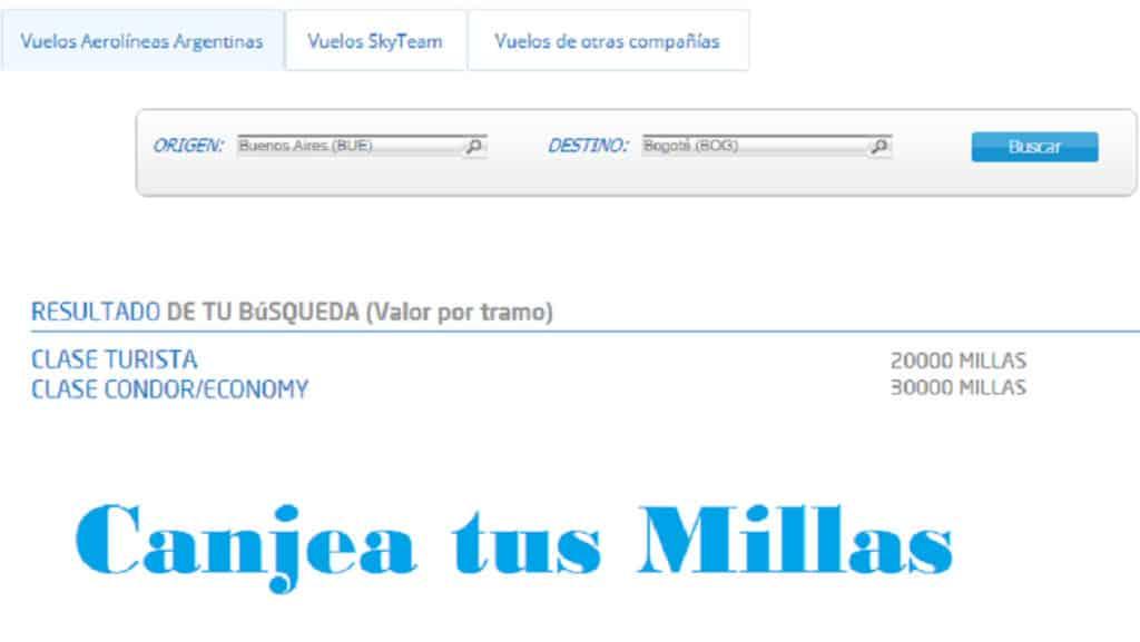 aerolíneas argentinas millas más pesos