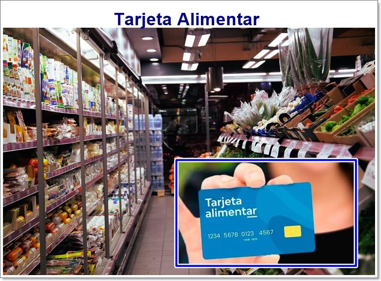 tarjeta alimentaria inscripcion