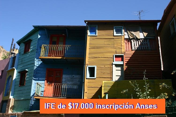 ife de $17.000 inscripción formulario